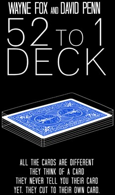 The 52 to 1 Deck Blue - magic