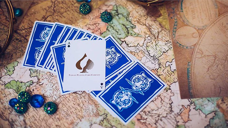 The Hidden King Blue Luxury Edition Playing Cards - magic