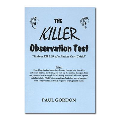 The Killer Observation Test - magic