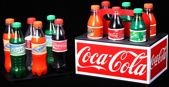 TRANSFER SODA BOTTLES - magic