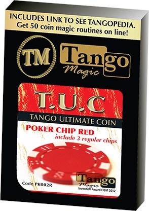 TUC Poker Chip Red plus 3 regular chips - magic