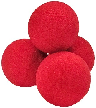 "1.5"" Ultra Soft Sponge Balls (Red) - magic"