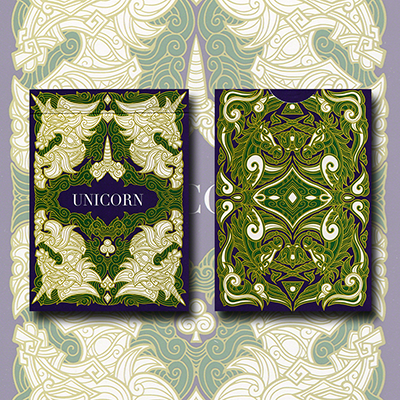 Unicorn Playing Cards (Emerald Edition) - magic