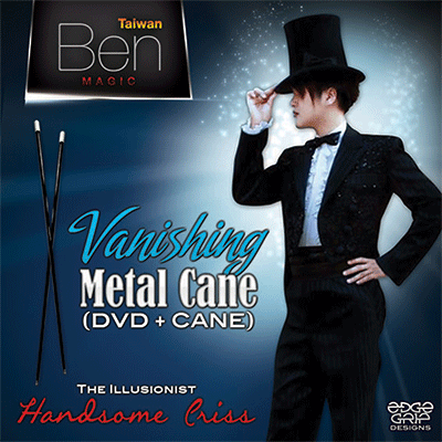 Vanishing Metal Cane (Black) - magic