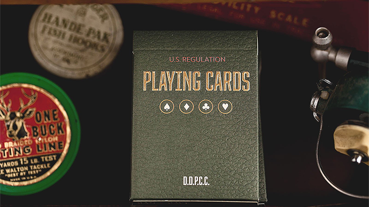 Vintage Plaid Playing Cards (Arizona Red) - magic