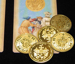 Vintage-Looking Coin Set with Coin-Shell - magic