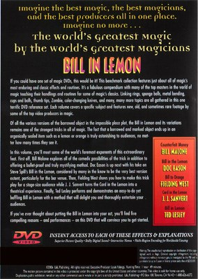 World's Greatest Magic - Bill In Lemon - magic