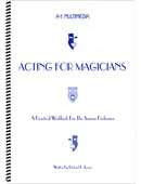 Acting for Magicians Book