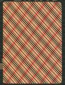 Arizona Red Vintage Plaid Deck Deck of cards