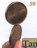 Balancing Coin - 50 Euro Cents Gimmicked coin