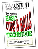Basic Cups & Balls Technique book - Ron Bauer Book