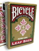 Bicycle Leaf Back Deck (Red) Deck of cards