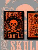 Bicycle Skull Metallic (Orange) Deck of cards