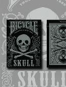 Bicycle Skull Metallic (Silver) Deck of cards