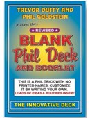 Blank Phil Deck Deck of cards