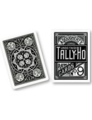 Tally Ho Fan Back (Black) Deck of cards