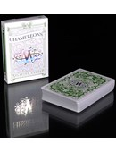 Chameleon Playing Cards signed By Asi Wind (Green) Deck of cards
