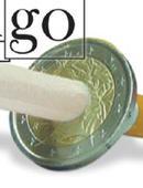 Cigarette thru Coin - 2 Euros Gimmicked coin