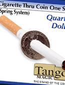 Cigarette thru Coin - Quarter Dollar Gimmicked coin