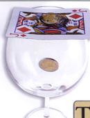 Coin thru Card - 2 Euro Gimmicked coin