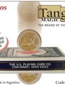 Coins thru Deck - 2 Euros Gimmicked coin