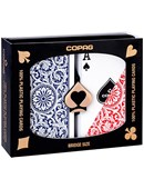 Copag 1546 Plastic Playing Cards Bridge Size Regular Index Red/Blue Double-Deck Set Deck of cards