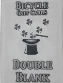 Double Blank Bicycle Cards Deck of cards