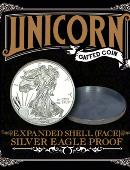 Expanded Shell - Silver Eagle Proof (Heads) Gimmicked coin