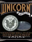 Expanded shell - Silver Eagle Proof (Tails) Gimmicked coin