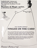 Finger on the Card  Book
