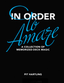 In Order To Amaze Book