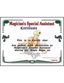 Magician's Assistant Certificate Accessory