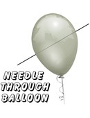 Needle Thru Balloon Professional Trick