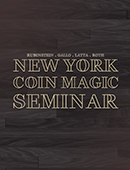 New York Coin Magic Seminar DVD or download