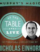 Nicholas Einhorn Live Lecture Live lecture