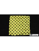 Polka Dot Hanky, Black on Yellow Trick