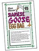 Ron Bauer Series: #15 - Siamese Goose Eggbag Book