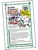 Ron Bauer Series: #21 - Brother Hamman's Finally Aces Book