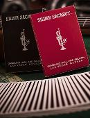 Silver Sackbut Playing Cards (Black) Deck of cards