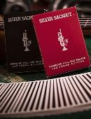 Silver Sackbut Playing Cards (Red) Deck of cards