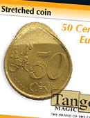 Stretched Coin - 50 Euro Cents Gimmicked coin