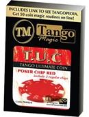 TUC Poker Chip Red plus 3 regular chips Trick