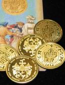 Vintage-Looking Coin Set with Coin-Shell Gimmicked coin
