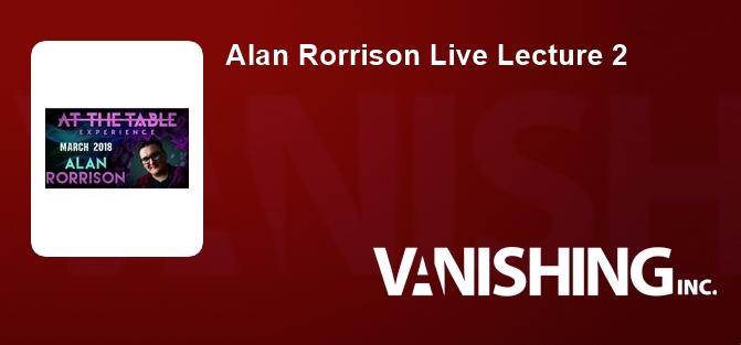 Alan Rorrison Live Lecture 2