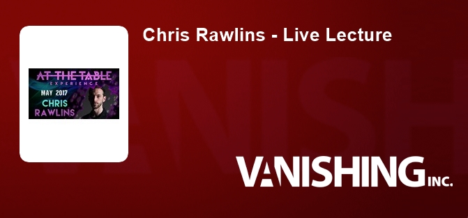 Chris Rawlins - Live Lecture