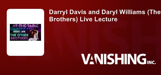Darryl Davis and Daryl Williams (The Other Brothers) Live Lecture