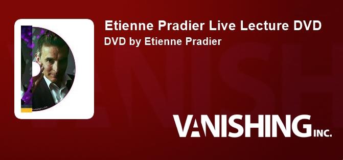 Etienne Pradier Live Lecture DVD