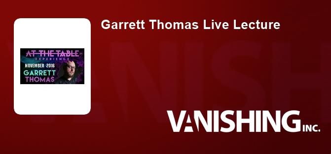 Garrett Thomas Live Lecture