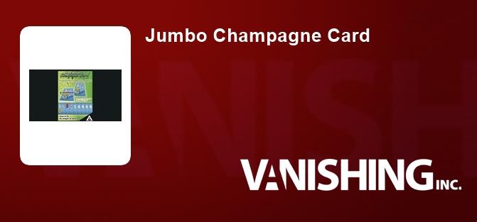Jumbo Champagne Card