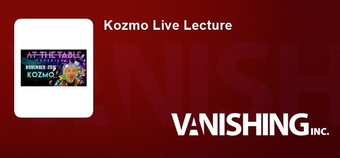 Kozmo Live Lecture